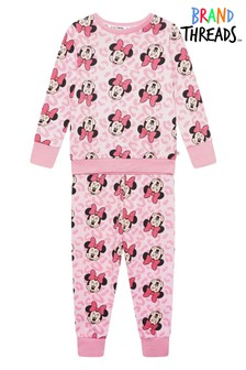 Brand Threads Disney - بيجاما بناتي مطبوعةMinnie Mouse بناتي