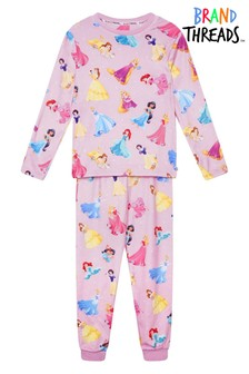 Brand Threads Disney Princesses Girls Divine Fleece Pyjama