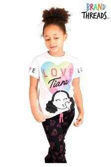 Brand Threads Hearts By TianaPyjamafür Mädchen mit Neonherzprint