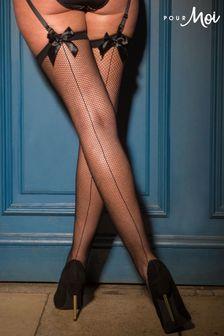 Dresuri Pour Moi din plasă cu fundă și cusătură dorsală