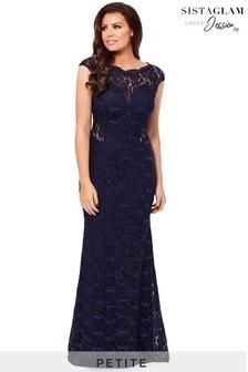 Кружевное платье макси для миниатюрных с пайетками Sistaglam loves Jessica