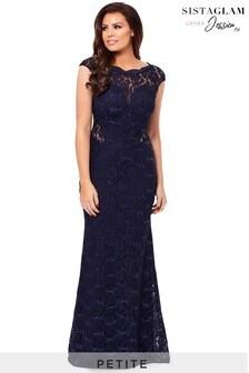 Sistaglam loves Jessica Petite Sequin Lace Maxi Dress