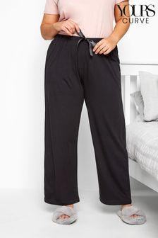 מכנסי פיג׳מה בייסיק מכותנה למידות גדולות שלYours