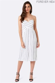 Forever New Striped Culotte Jumpsuit