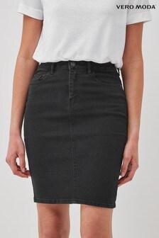 Vero Moda High Waisted Denim Mini Skirt