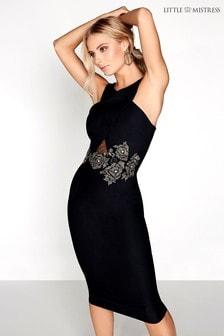 Little Mistress Figurbetontes Kleid mit verzierter Taille