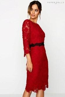 Paperdolls Crochet Lace Dress