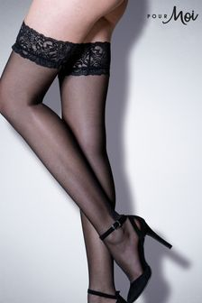 Pour Moi Adore Lace Top 15 Denier Hold Ups