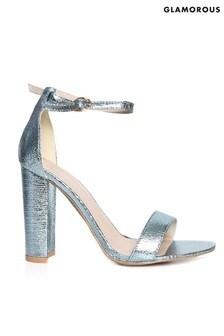 Босоножки на квадратном каблуке с эффектом металлик Glamorous