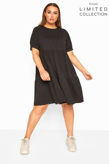 Yours Curve Limited Collection Tiered Cotton Smock Dress
