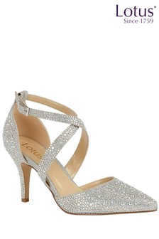 Lotus Jewelled Heeled Shoes
