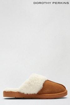 נעלי בית כפכף מזמש שלDorothy Perkins