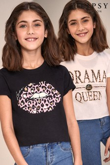 Lipsy Girl 2 Pack T-Shirt
