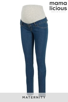 Mamalicious Maternity Over The Bump Skinny Stretch Jeans