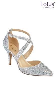 Lotus Embellished Court Shoes