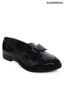 Lakierowane buty na płaskim obcasie Glamorous, z kokardą