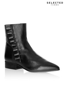 Selected Femme Frill Detail Boots