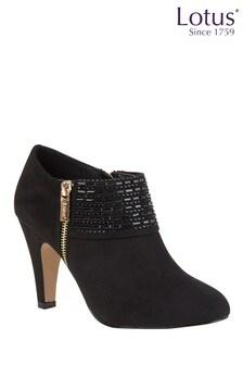 Lotus Side Zip Detail Shoe Boots