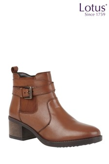 Lotus Leather Casual Comfort Ankle Boots