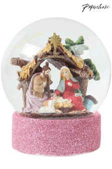 Paperchase Nativity Christmas Snowglobe
