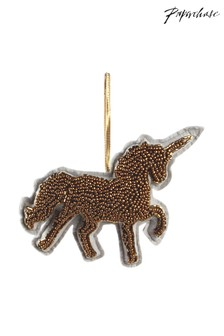 Paperchase Beaded Unicorn Christmas Decoration