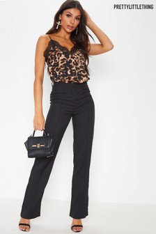 PrettyLittleThing Leopard Lace Cami Top