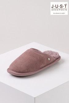 حذاء للبيت نسائي جلد خرافShaftsbury منJust Sheepskin