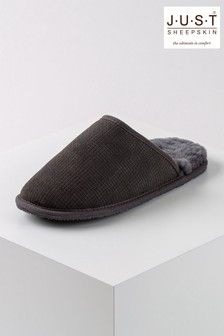 Just Sheepskin Nelson Basket Weave Sheepskin Slipper