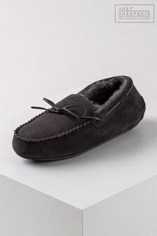 حذاء للبيت جلد خرافGeorge منJust Sheepskin