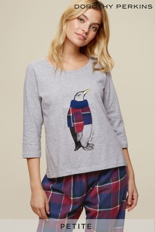 Dorothy Perkins Petite Penguin Check Pajama Set