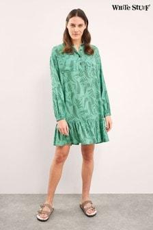 שמלת חולצהעם כיסים בירוק שלWhite Stuff