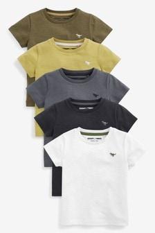 5 koszulki z krótkim rękawem (3m-cy-7lata)