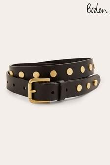Boden Black Studded Belt