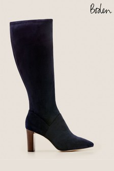 Boden Blue Pointed Stretch Boots