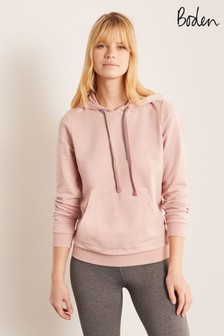 Boden Pink Oriel Hooded Sweatshirt