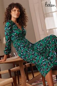 שמלת ג'רזי Hayden של Bodenבצבע ירוק