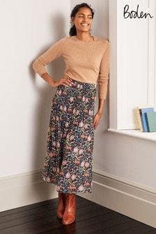 Boden Blue Cassidy Pleated Skirt