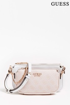 Guess Blush and White 2 in 1 Mika Crossbody Bag