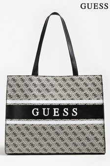 Guess Black Logo Monique Tote Bag