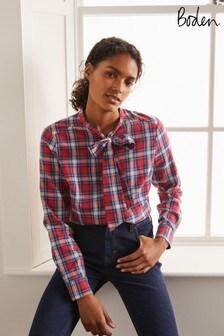 Boden Red Susannah Bow Neck Shirt