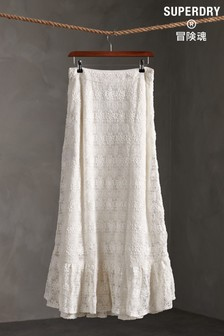 Superdry Morgan Lace Maxi Skirt