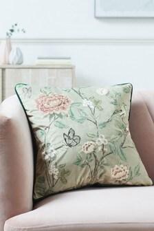Oriental Trailing Chinoiserie Cushion
