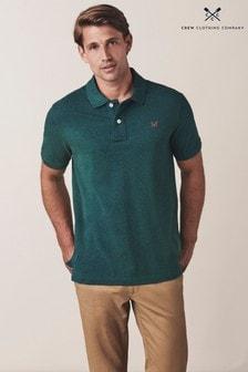 חולצתפולוקלאסית מבד פיקהשלCrewClothing Company בירוק