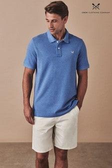 Crew Clothing Company Blue Classic Pique Poloshirt