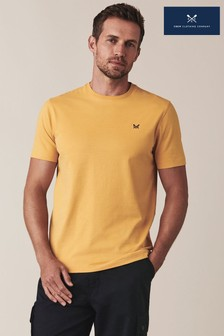 Crew Clothing Company Klassisches T-Shirt mit Rundhalsausschnitt, Gelb