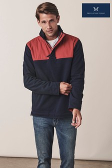 Crew Clothing Company Red Technical Padstow Sweatshirt