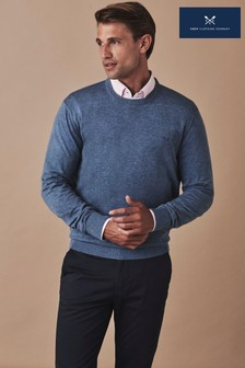 Crew Clothing Blue Holywell Heathered Crew Jumper
