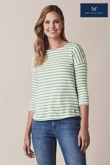 חולצת פסים שלCrewClothing דגםLangley בירוק