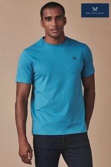 חולצת טי קלאסית כחולה של Crew Clothing Company