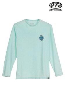 חולצת טי עם שרוולים ארוכים של Animal דגם Mandala באפור